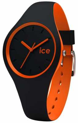Ice-Watch Unises DUO Black Orange Silicone Strap DUO.BKO.S.S