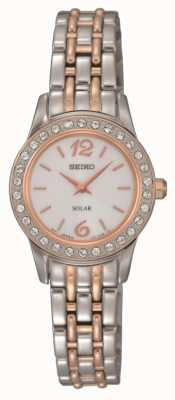 Seiko Womens Solar Powered Two Tone SUP130P9