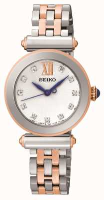 Seiko Womens Two Tone Crystal Set SRZ400P1