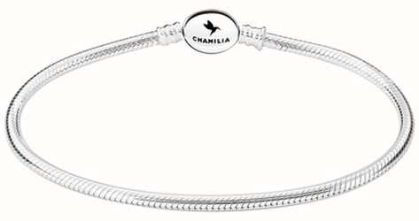 Chamilia Sterling Silver Oval Snap Bracelet 6.0 Inches 1010-0162