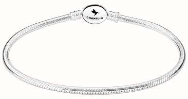 faedc1cd9b136 Chamilia Charms Sterling Silver Oval Snap Bracelet 6.0 Inches