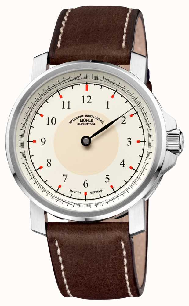 Muhle glashutte m 29 classic einzeiger leather band cream dial m1 25 59 lb first class watches for Muhle watches