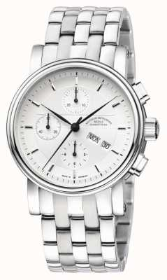 Muhle Glashutte Teutonia II Chronograph Stainless Steel Band Silver Dial M1-30-95-MB