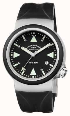 Muhle Glashutte S.A.R. Rescue-Timer Indian Rubber Band Black Dial M1-41-03-KB