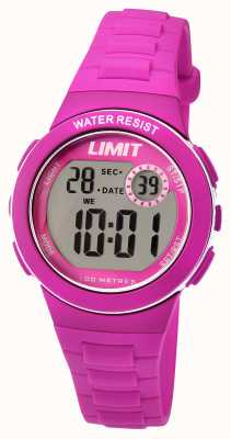 Limit Childrens Digital Pink Resin Strap 5584.24