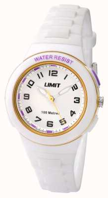 Limit Kids White Resin Strap White Dial 5590.24