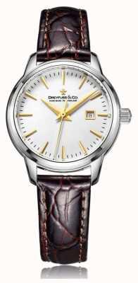 Dreyfuss Ladies Swiss Made Watch With Brown Strap DLS00125/02