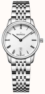 Dreyfuss Ladies Silver Bracelet | White face | DLB00146/01