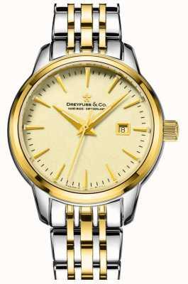 Dreyfuss 1890 - Dreyfuss Ladies Two Tone Gold Plated Watch DLB00126/03