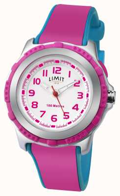 Limit Kids Active Pink Resin Strap White Dial 5599
