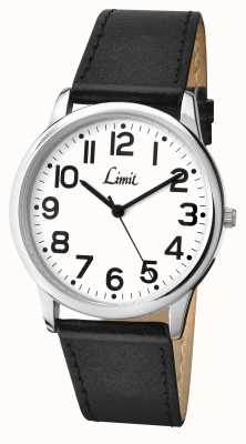 Limit Mens Black Strap White Dial 5608.35