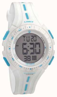 Limit Kids Racing Digital White Rubber Strap 5395.56