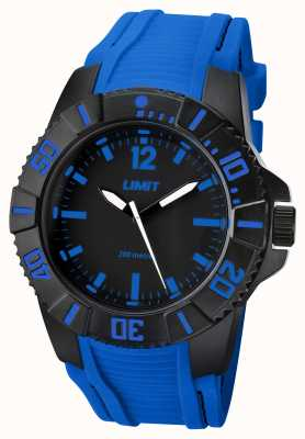 Limit Mens Active Blue Strap Black Dial 5546.02