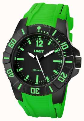 Limit Mens Active Green Strap Black Dial 5548.02
