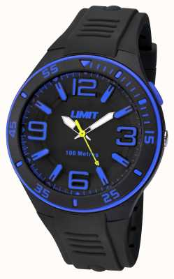 Limit Mens Black Strap Black Dial 5568.24