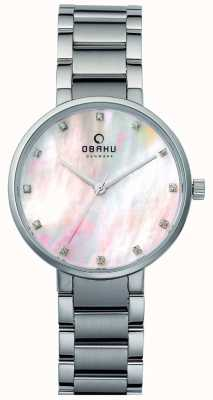 Obaku Womans Steel Case Steel Strap Pink Dial V189LXCPSC