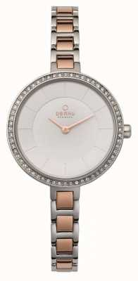 Obaku Womans Steel Case Two Tone Strap V191LECISC
