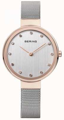 Bering Womens Stainless Steel Mesh Strap Silver Dial 12034-064