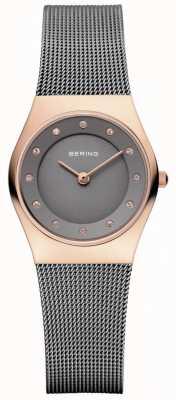 Bering Womens Grey Mesh Strap Grey Dial 11927-369