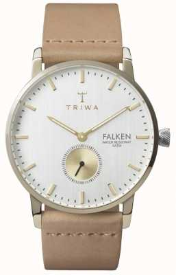 Triwa Unisex Birch Falken Tan Strap White Dial FAST105-CL010617