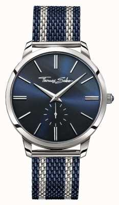 Thomas Sabo Mens Rebel Spirit Two Tone Steel Mesh Strap Blue Dial WA0268-281-209-42