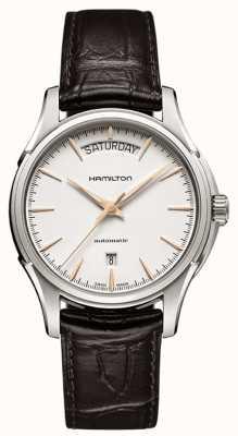 Hamilton Mens Jazzmaster Day Brown Leather Strap H32505511