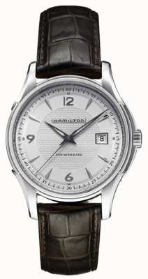Hamilton Mens Jazzmaster Viewmatic Silver Dial Leather Strap H32515555