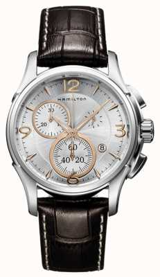 Hamilton Mens Jazzmaster Quartz Silver Chronograph Dial H32612555