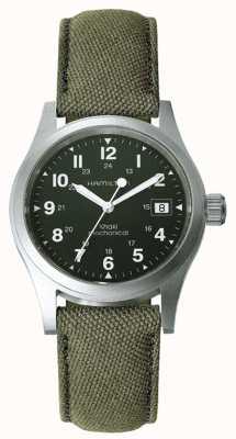 Hamilton Mens Khaki Field Officer Green Dial Khaki Strap H69419363