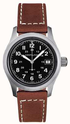 Hamilton Men's Khaki Field Quartz Brown Strap Black Dial 38mm H68411533