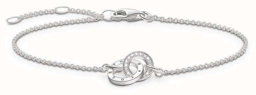 Thomas Sabo Glam and Soul Sterling Silver Together Forever Bracelet D_A0006-725-14-L19,5V