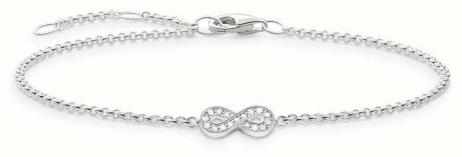 Thomas Sabo Glam and Soul Together Forever Sterling Silver Bracelet D_A0002-725-14-L19,5V