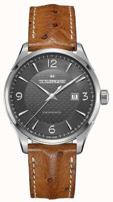 Hamilton Mens Jazzmaster Viewmatic Automatic Brown Leather Strap H32755851