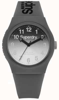 Superdry Unisex Urban Laser Grey And Black Silicone Strap SYG198EE
