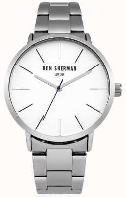 Ben Sherman Mens Stainless Steel White Dial WB054SM