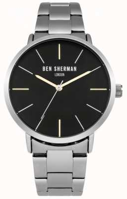 Ben Sherman Mens Stainless Steel Black Dial WB054BSM