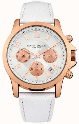 Daisy Dixon Womens Adriana White Leather Strap Cream Dial DD002WRG