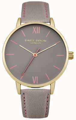 Daisy Dixon Womens Annie Grey Leather Strap Grey Dial DD029EG