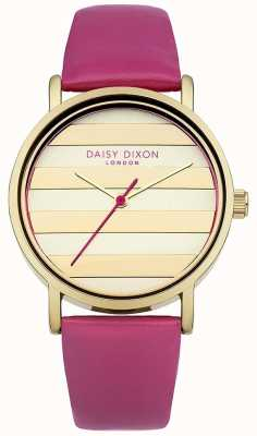 Daisy Dixon Womens Poppy Pink Leather Strap Gold Dial DD009PG