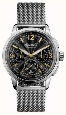 Ingersoll Mens 1892 The Regent Stainless Steel Black Dial I00103