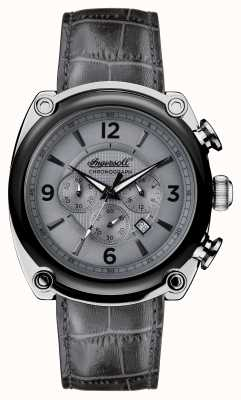 Ingersoll Mens 1892 The Michigan Grey Leather Strap Grey Dial I01201