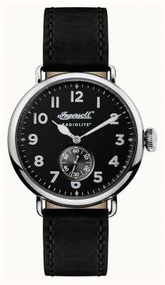 Ingersoll Mens Radiolite The Trenton Black Leather Strap Black Dial I03201