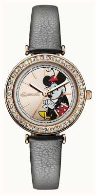 Disney By Ingersoll Womens Union The Disney Grey Leather Strap Gold Dial ID00302