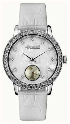 Disney By Ingersoll Womens Union The Disney White Leather Strap ID00701