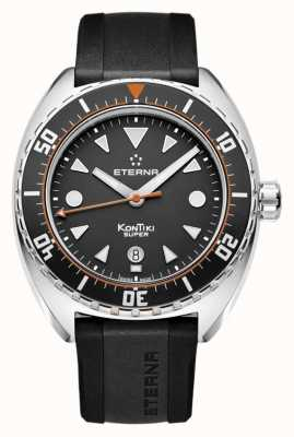 Eterna Mens Super Kontiki Automatic Black Strap Black Dial 1273.41.46.1382