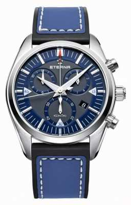 Eterna Mens Kontiki Chronograph Quartz Blue 1250.41.81.1303