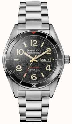Barbour Mens Kenton Day Date Dial Stainless Steel BB054SL