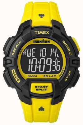 Timex Mens Indiglo Iron Man Rugged Alarm Chronograph Yellow TW5M02600