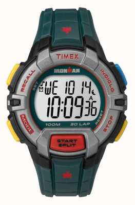 Timex Mens Indiglo Iron Man Rugged Alarm Chronograph Dark Green TW5M02200