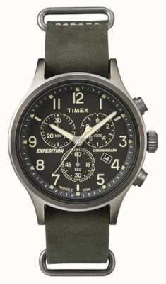 Timex Mens Scout Chronograph Black Dial TW4B04100